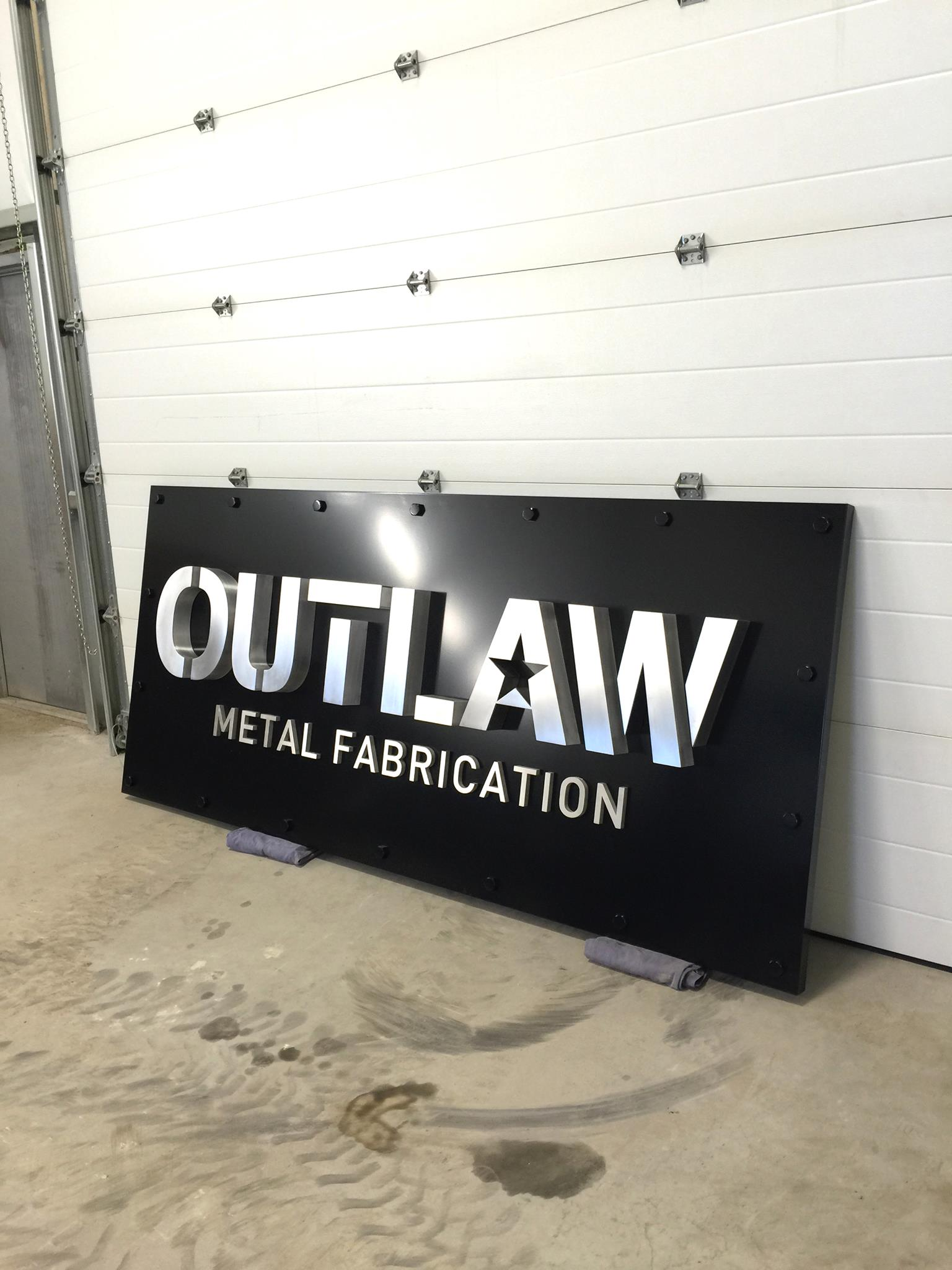 Outlaw Sign Finished