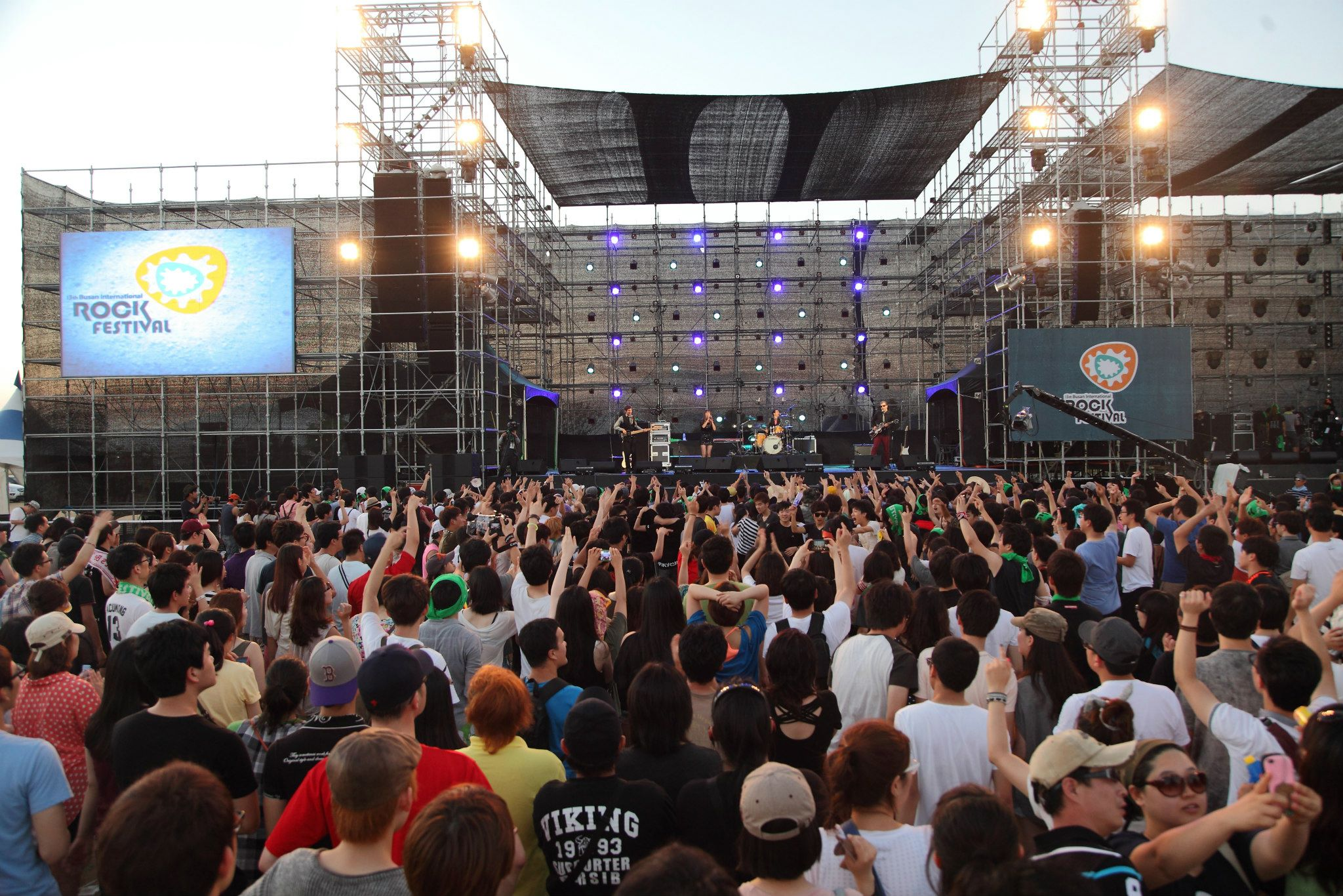 On stage at the Busan International Rock Festival in South Korea  (2012)