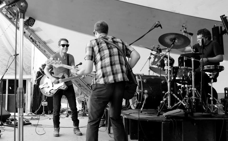 On stage at South Country Fair with  Steve Brockley Band .   Photo by  Jodie Ponto