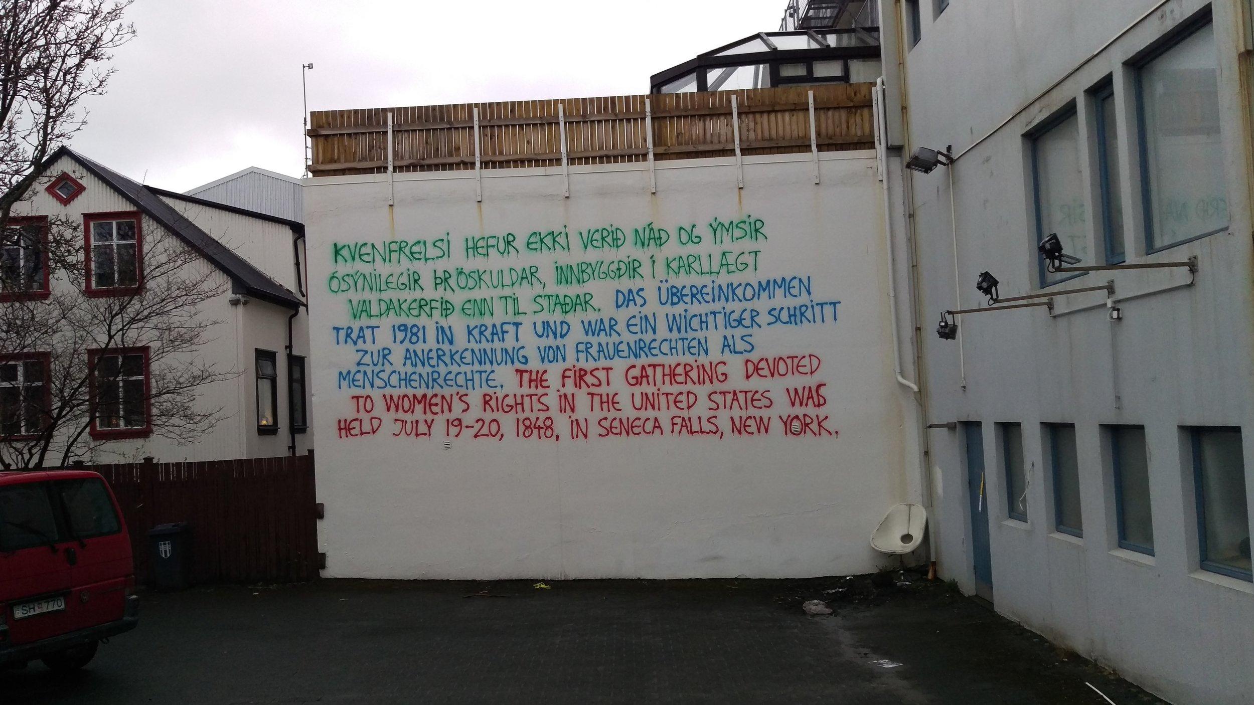 Mural en calle Frakkastigur, Reykjavik, Islandia. 1ro de Mayo, 2017. ©A. Iaroc