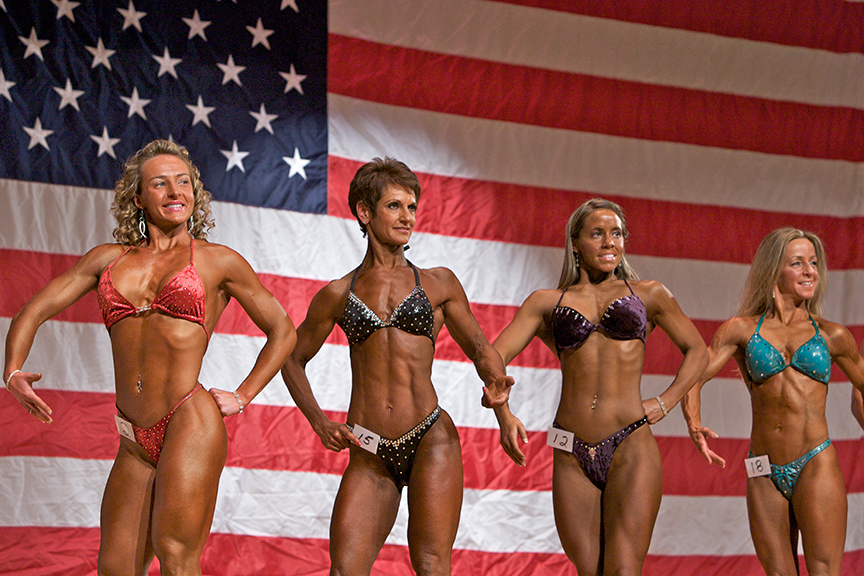 While this is Lauren's first competition, many of the women have competed and won during previous judging. Lauren is concerned her figure is too large and muscular compared to the other women.