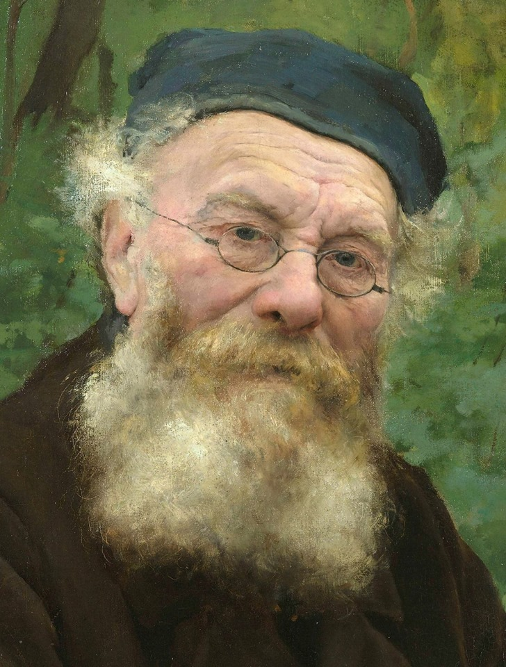 This detail of the portrait of his grandfather is a great example of Bastien's ability to take his careful observations of nature to an incredible level of finish while still maintaining a beautiful sense of movement and vitality.