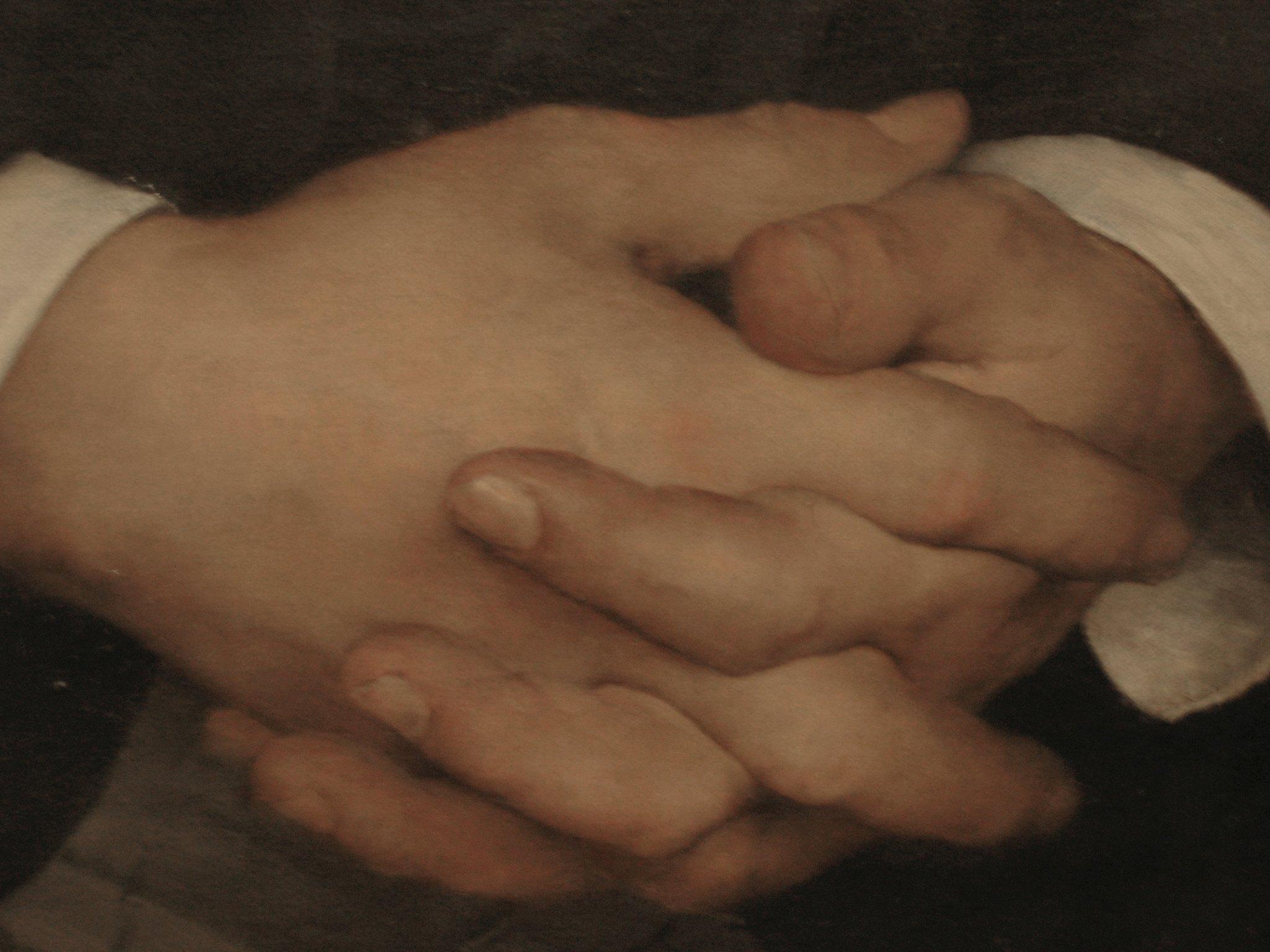 Hands from Bastien's portrait of Hayem.