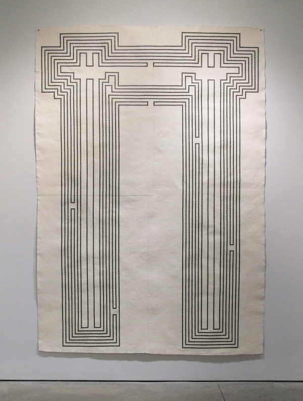 Station , 2010  Graphite on handmade cotton rag paper  103 x 72 1/2 inches