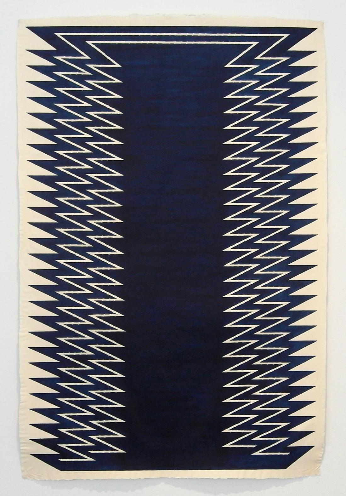 Awake, Sleeper , 2012  Leather dye on handmade paper  60 x 40 inches
