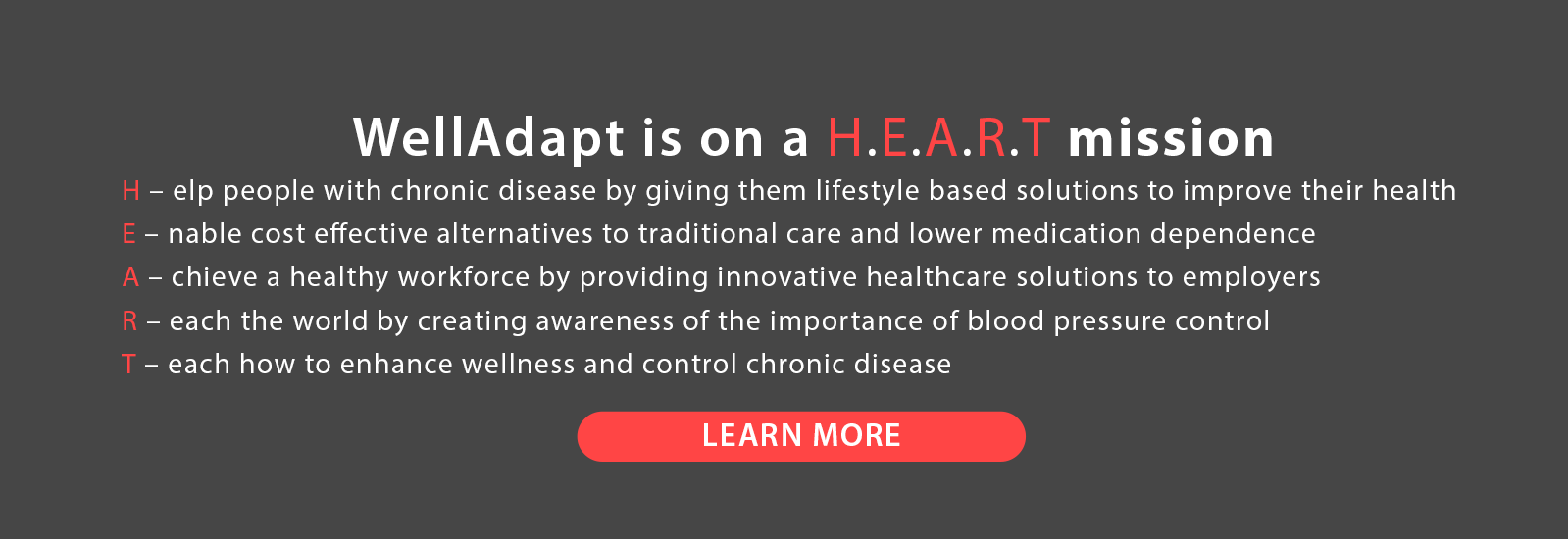 WellAdapt Heart Mission