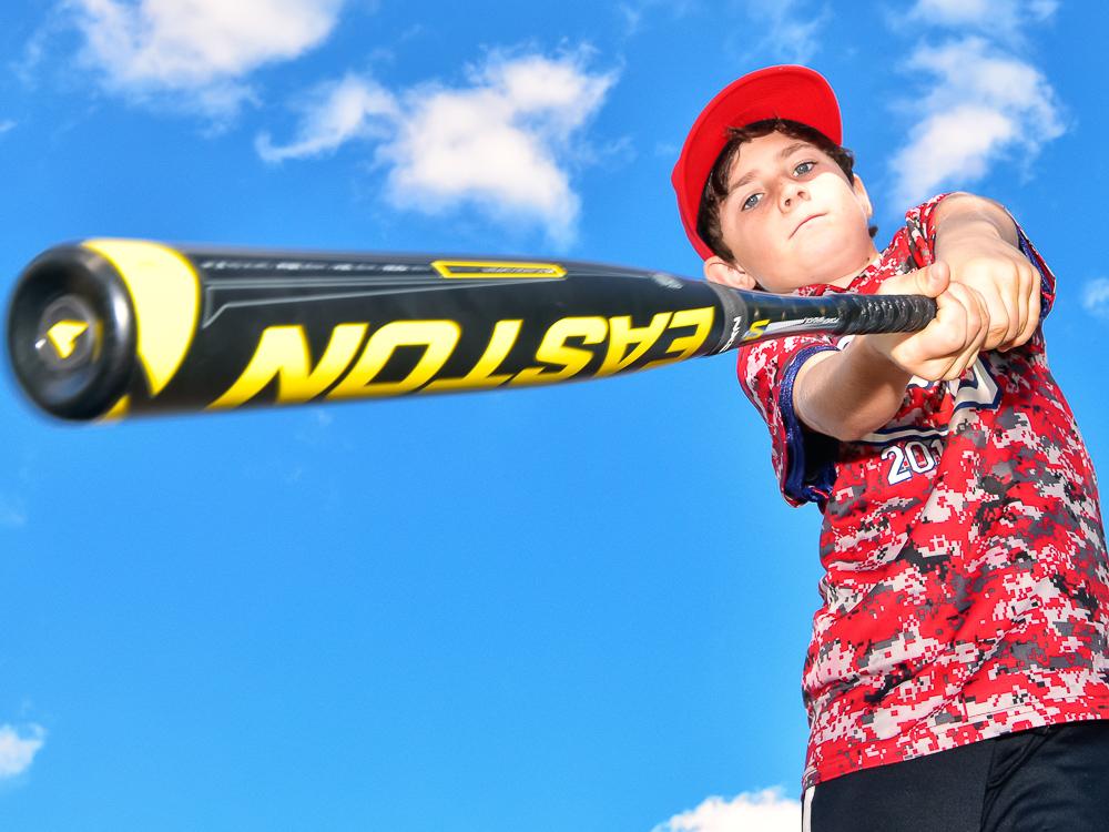 Portrait of baseball player for banner.