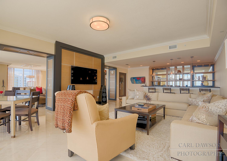 Living Room from 5050 N Ocean Drive #1702