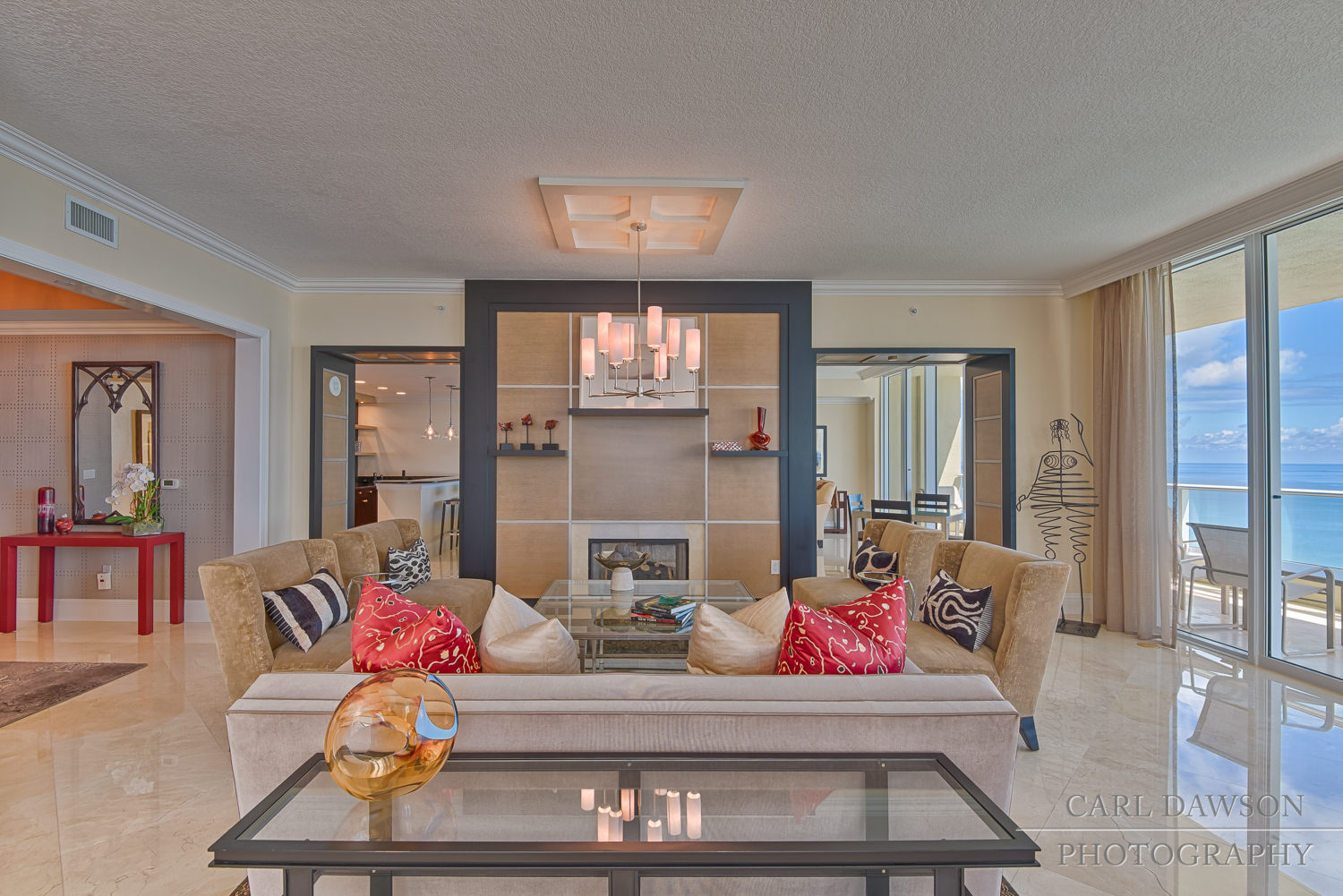 Living Room in Luxury Condo for Sale | Singer Island Florida