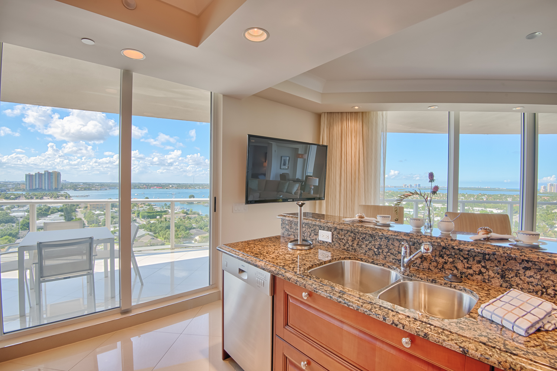 The Ritz Kitchen View on Singer Island