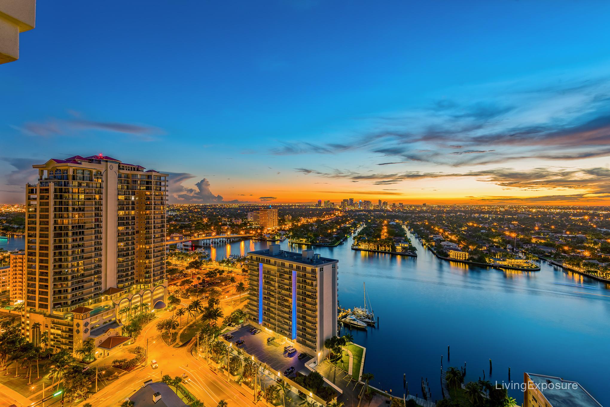 Sunset - Fortlauderdale Skyline
