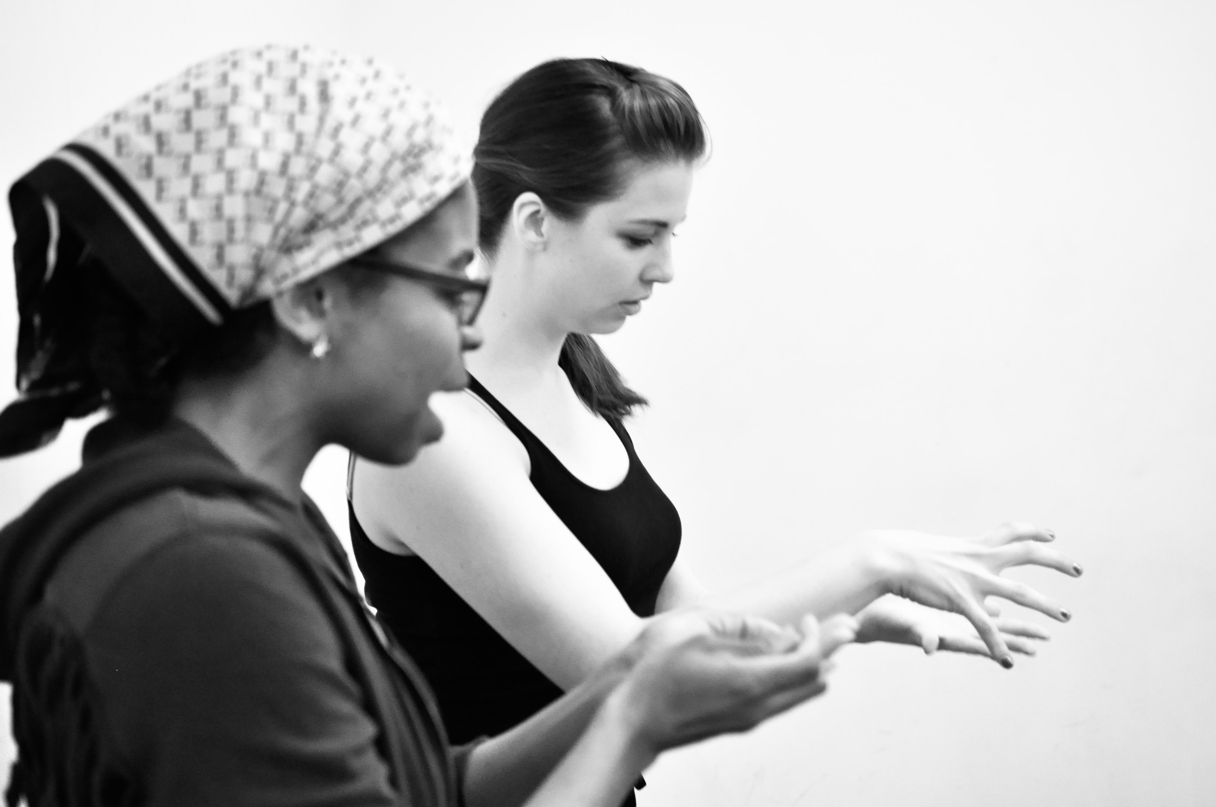Alana and Lizzy in Rehearsal