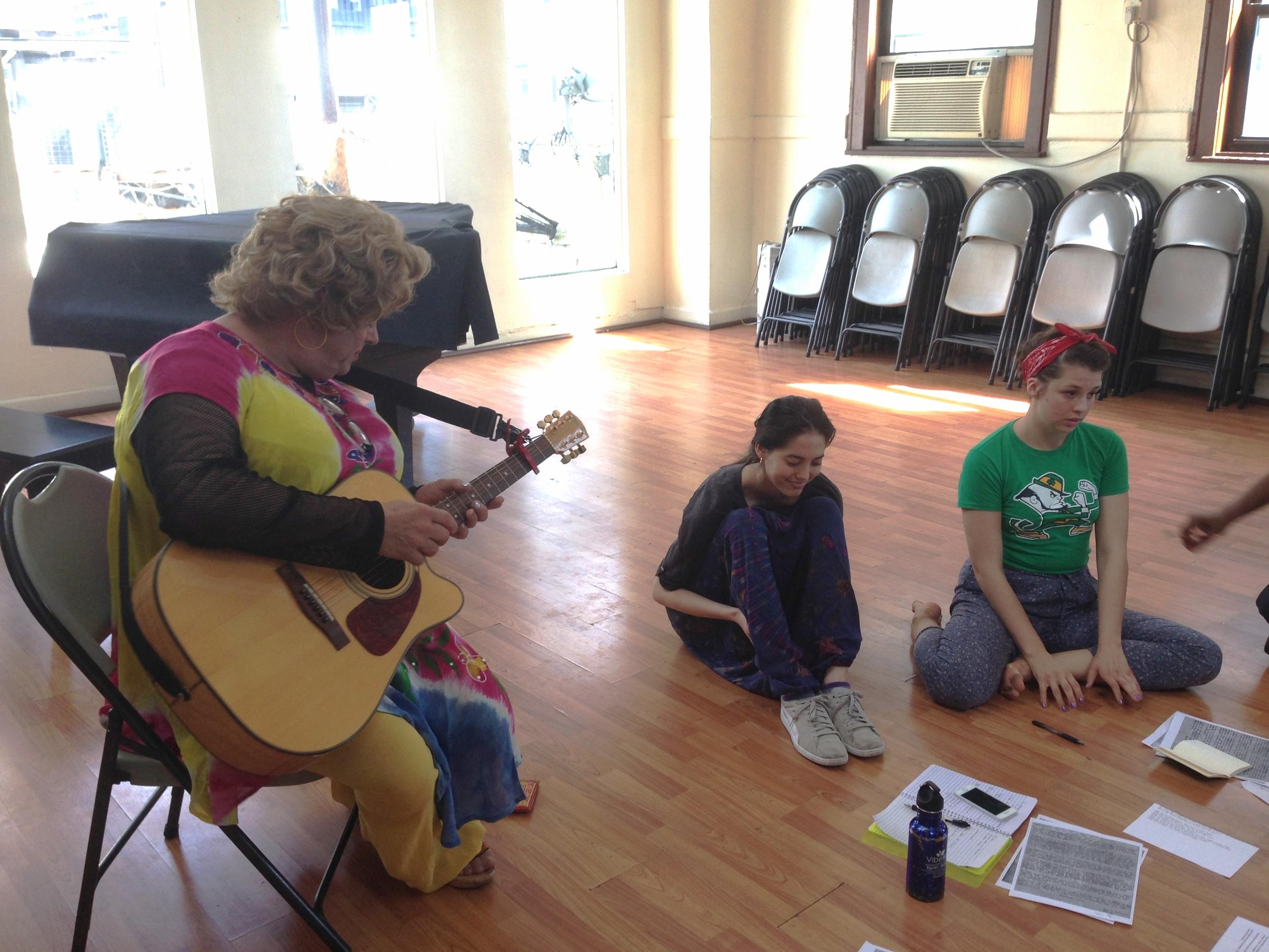Yolanda Improvising on Guitar