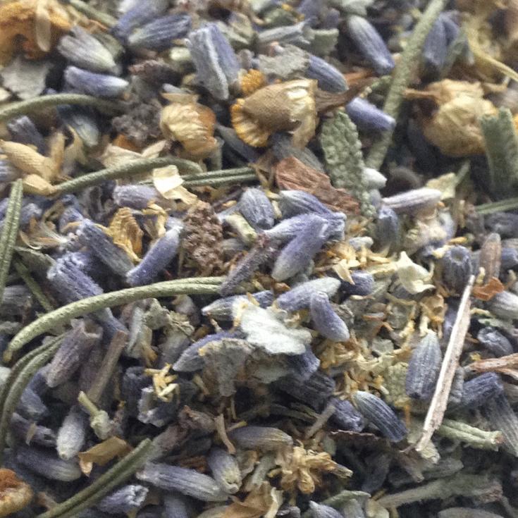 Herbal bath tea blend: lavender, rosemary, chamomile, sage