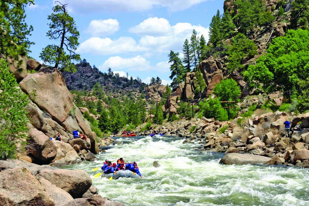 Paddle the best whitewater of Browns Canyon on the Arkansas. Photo Credit: Scott Peterson