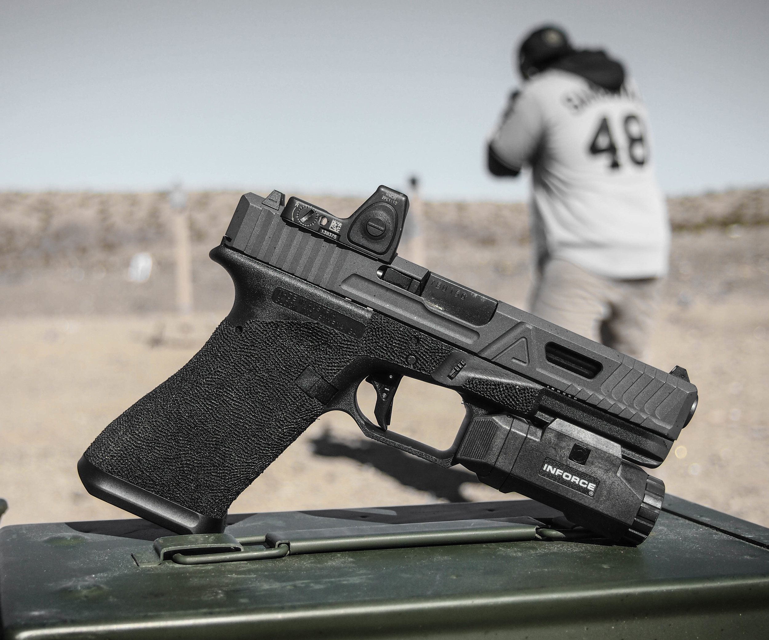 Unless you've been living under a rock for the last year you've most likely heard of Agency Arms. They customize the hell of out Glocks.Most people cringe when they find out you're rocking a $3,000 Glock 17. Especially since a stock one is a little over $500 brand new, out the door. We've been shooting it for almost a year and its proven to be worth every penny. I'm not going to sit here and explain all of the badassery that goes into one,you can find that on their website, however, I will say if you find some extra cash in between your couch cushions, let Agency fancy up a Glock for you. You won't be disappointed.