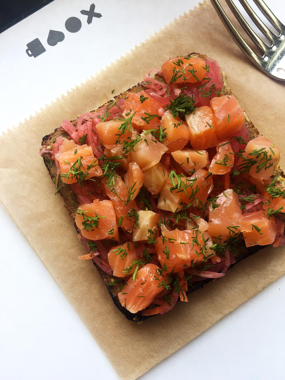 Smoked Salmon Smörgås at The Bachelor Farmer Cafe