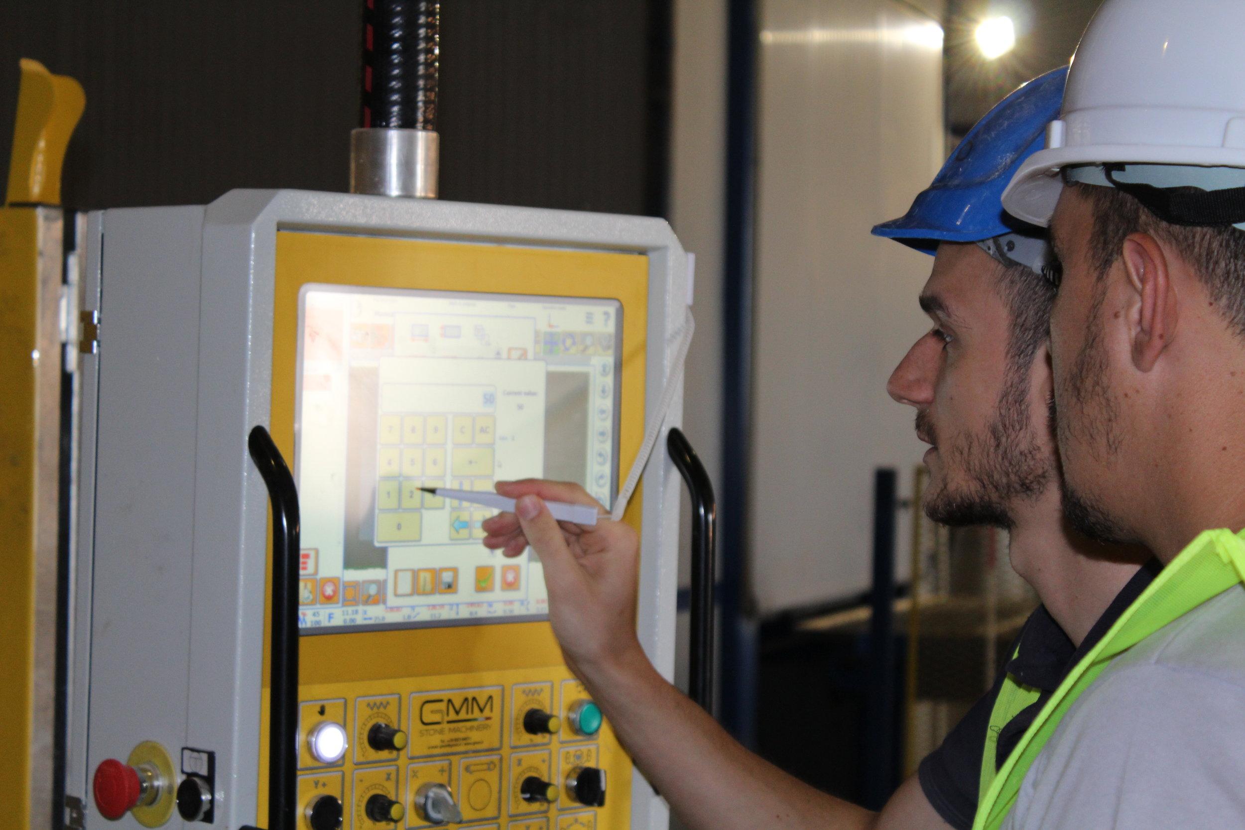 Operating the CNC Machine