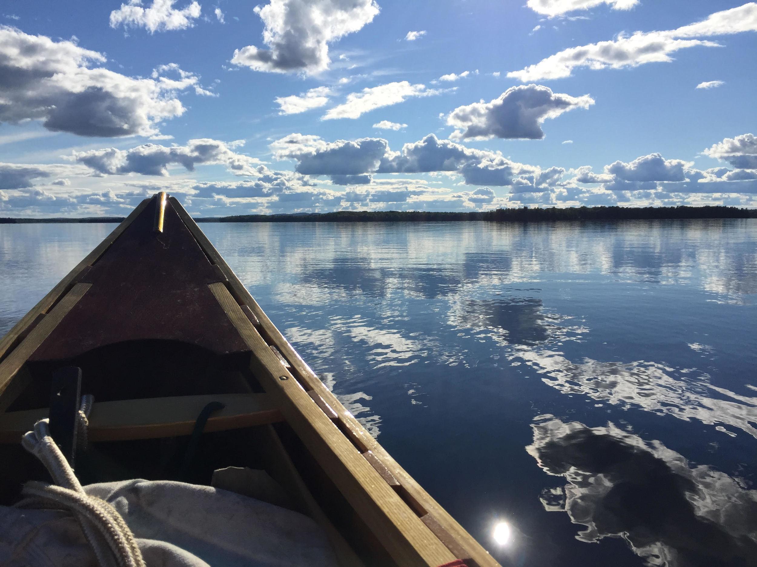 The view from Robert's handmade canoe
