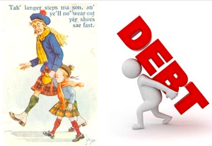 Scots in stereotype (left) and according to  The Guardian  (right).