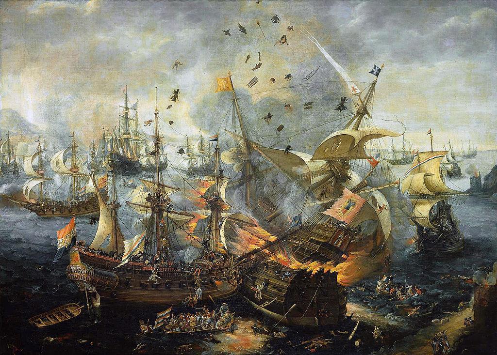 The Battle of Gibraltar, 25 April 1607, by Cornelis Claesz van Wieringen - www.rijksmuseum.nl Image via  Wikimedia