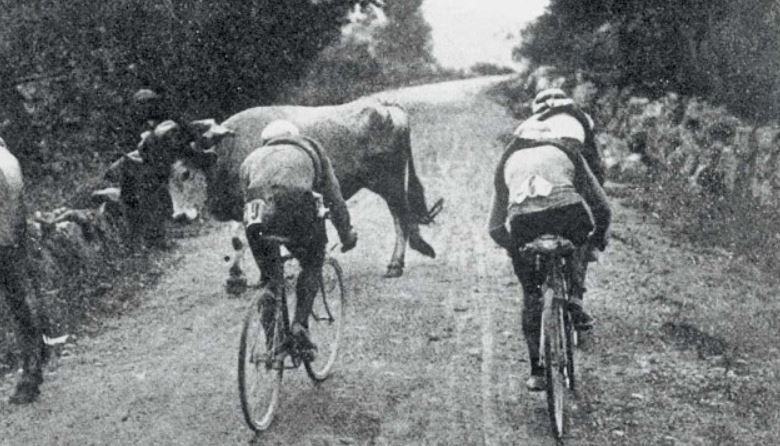 Photo: Tour de France 1910, with acknowledgment to   https://velopeloton.com/circle-death/