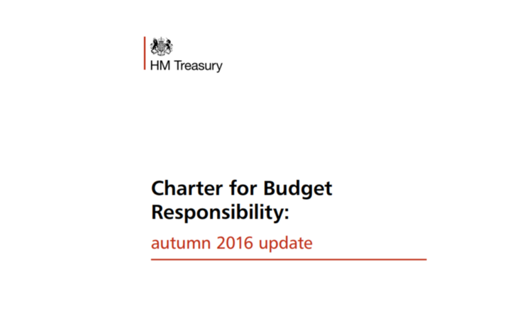 Image: latest version of  Charter  including fiscal rules, put before Parliament January 2017 - but what's next?