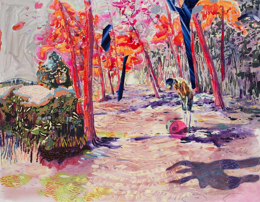 Spellbound, 2014. Oil on canvas, 140 X 180 cm.