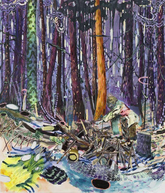 Scruffy's Emerald Secret, 2014-15. Oil on canvas, 140 X 120 cm