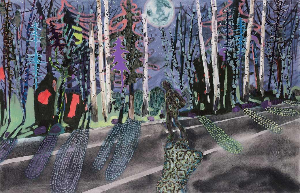 Shadow Hunter, 2014-15. Oil on canvas, 90 X 140 cm.