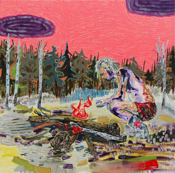 Whoa Cowboy Pinky, 2015. Oil on canvas, 65 X 65 cm.