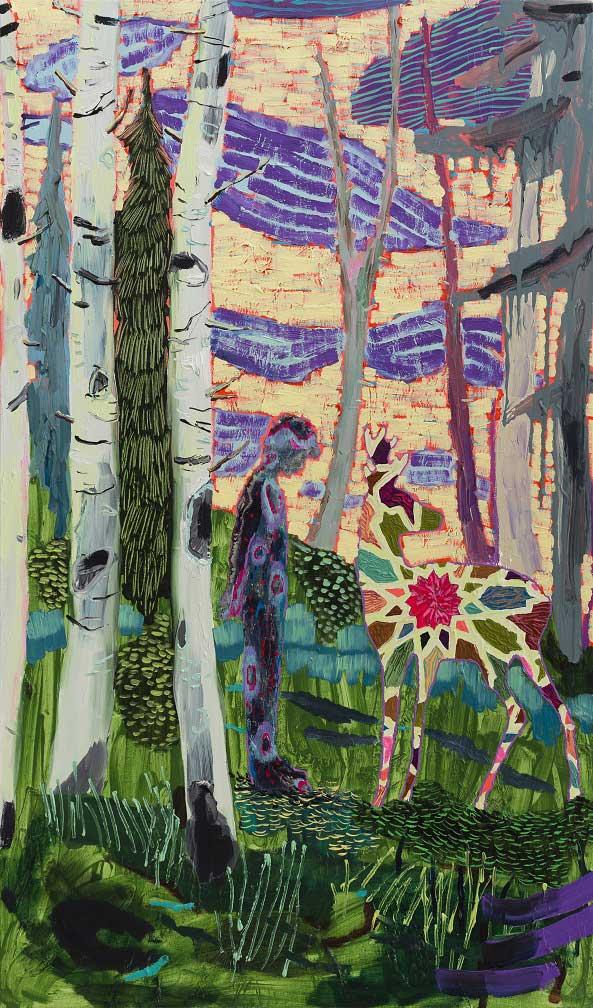 Deer Boy, 2014-15. Oil on canvas, 89 X 52 cm.