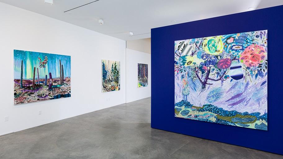 Installation view at Shulamit Nazarian Gallery, LA.