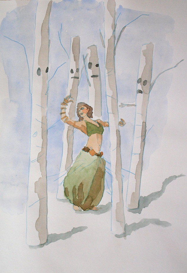 Dancer & Trees, 2016. 30 X 21 cm. Melanie Daniel SM.jpg