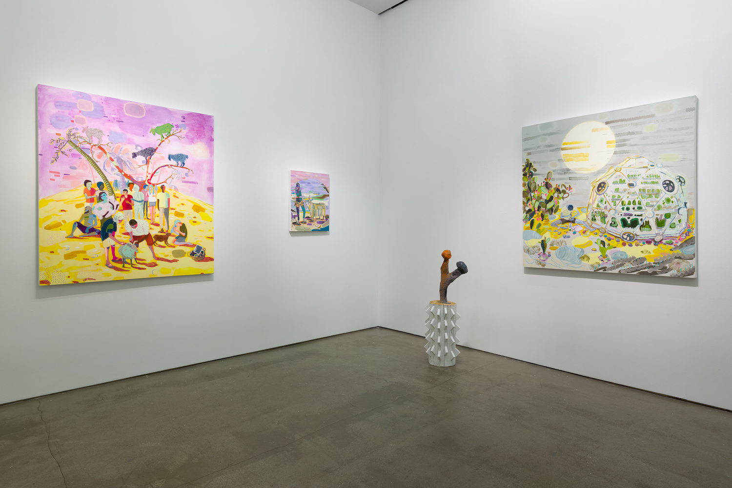 SM Install prickly cactus and 3 paintings Late Bloomers 2018.jpg