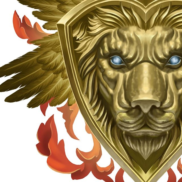 Ace of Hearts preview. Coming soon, my custom illustrated playing card deck. Follow my Instagram for further updates. #playingcards #customplayingcards #artist #kickstarter #painting #art #fantasyart #aceofhearts #cardistry #cardart #fantasy #magic #customart #hearts #lion #gold