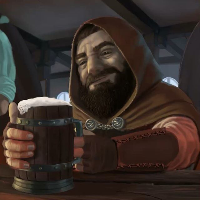 Happy Friday! Dwarven rogue enjoying a bit of a break in dungeoning.  Follow for more art videos. #dnd #dungeonsanddragons #dungeonmaster #5e #rogue #rogue #dwarves #rpg #monsterdeck #dragons #monster #fantasy #art #fantasyart #wotc #illustration #digitalart #digitalpainting #beer #happyhour #tavern #painting #art #conceptart