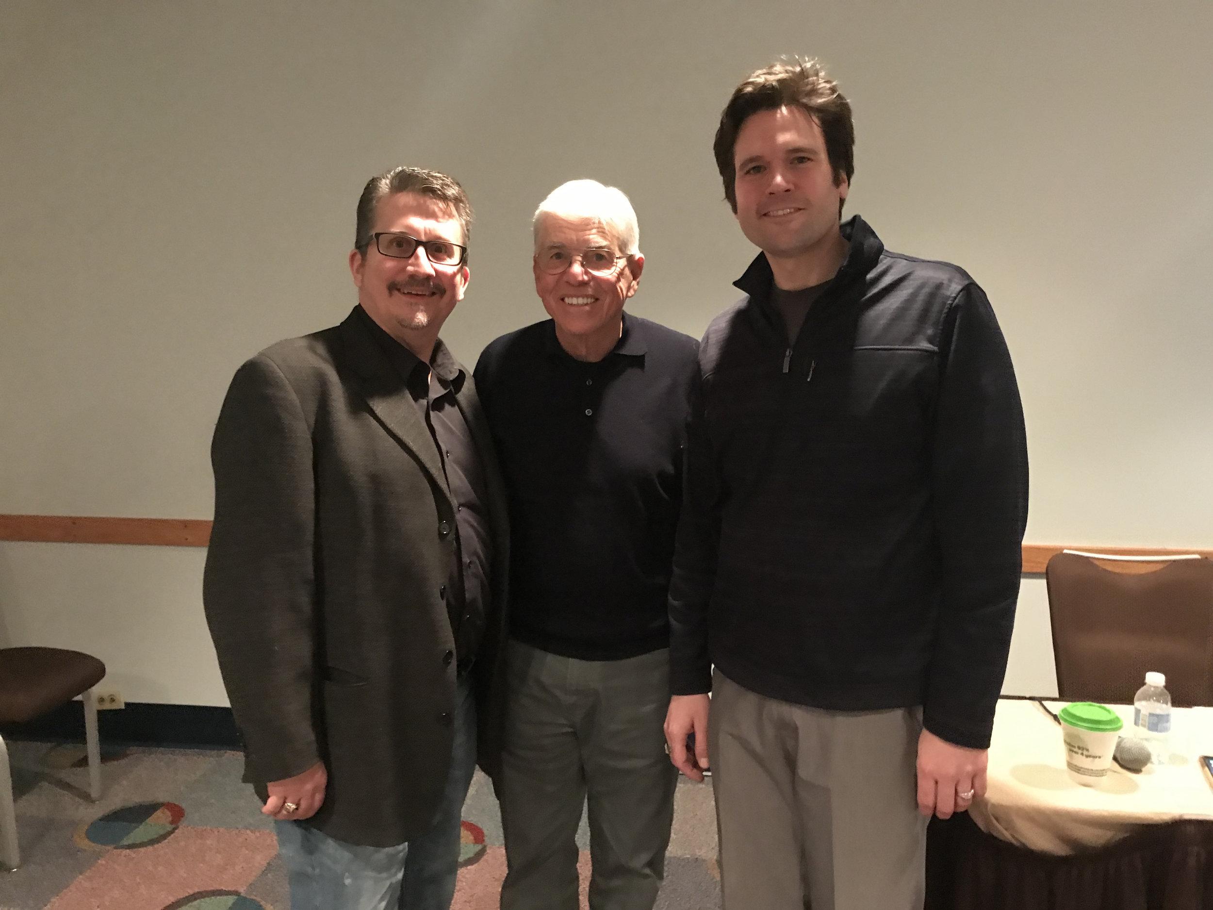 L to R: R. Scott Barnas, James F. Keene, Don Stinson