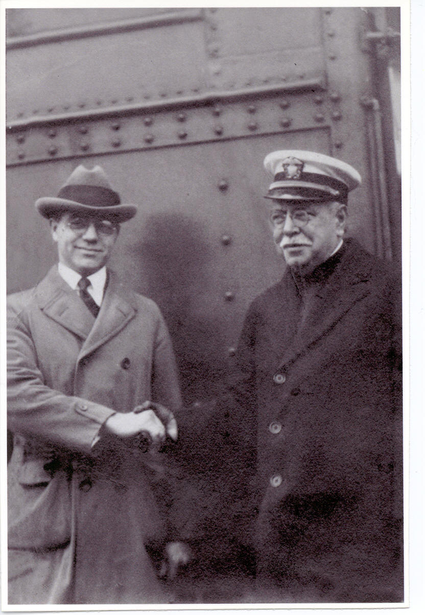A.R. McAllister, left; John Philip Sousa, right.