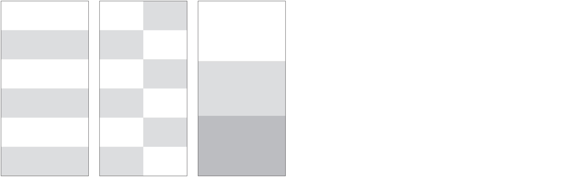 """Standard Layout BICOLOR, CHECK, TRICOLOR (108"""" height by full width panels)"""