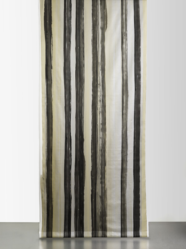 Y4006 MULTICOLOR STRIPE SATEEN Solid Silver