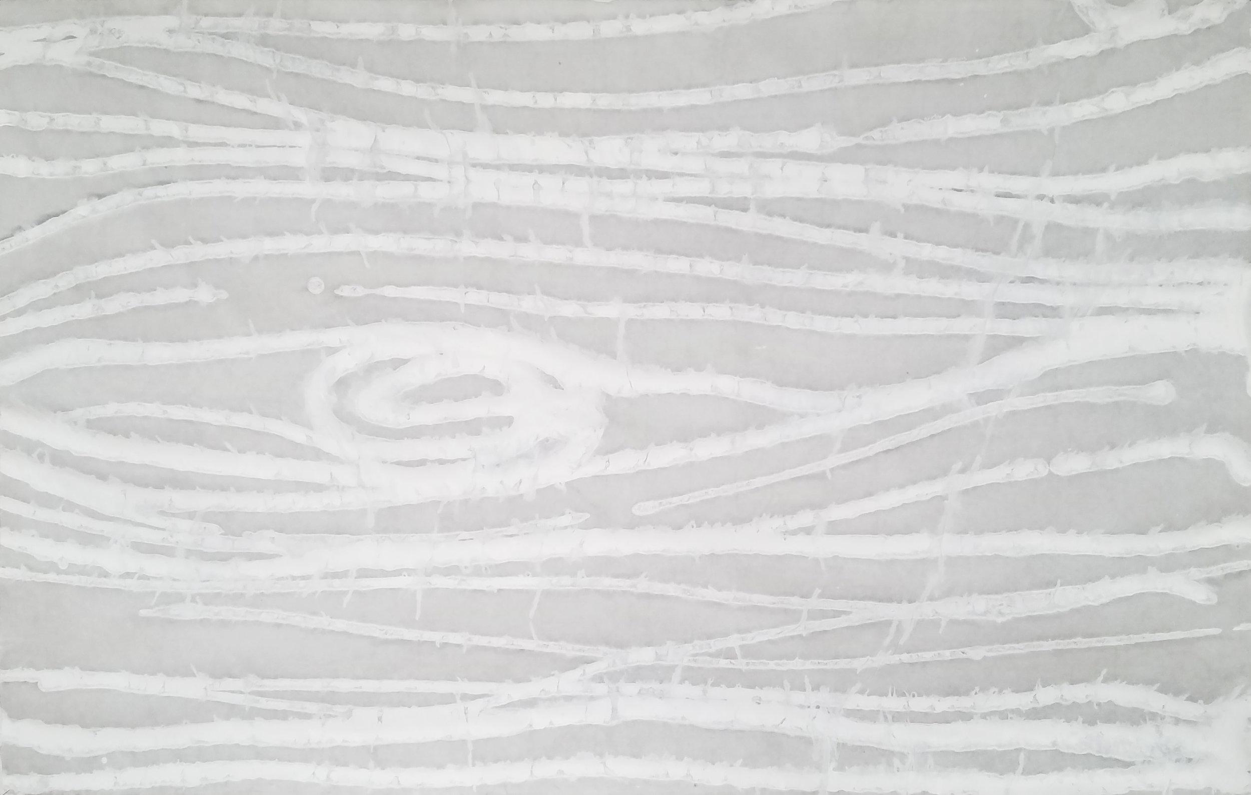 E1427 WOODGRAIN White/Gray  (Handpainted Rice Paper)