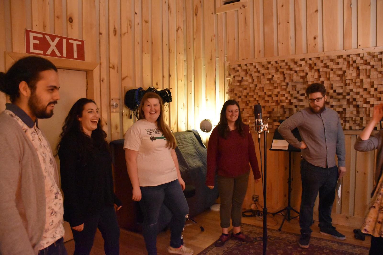 My lovely happy friends in Bunker Studios