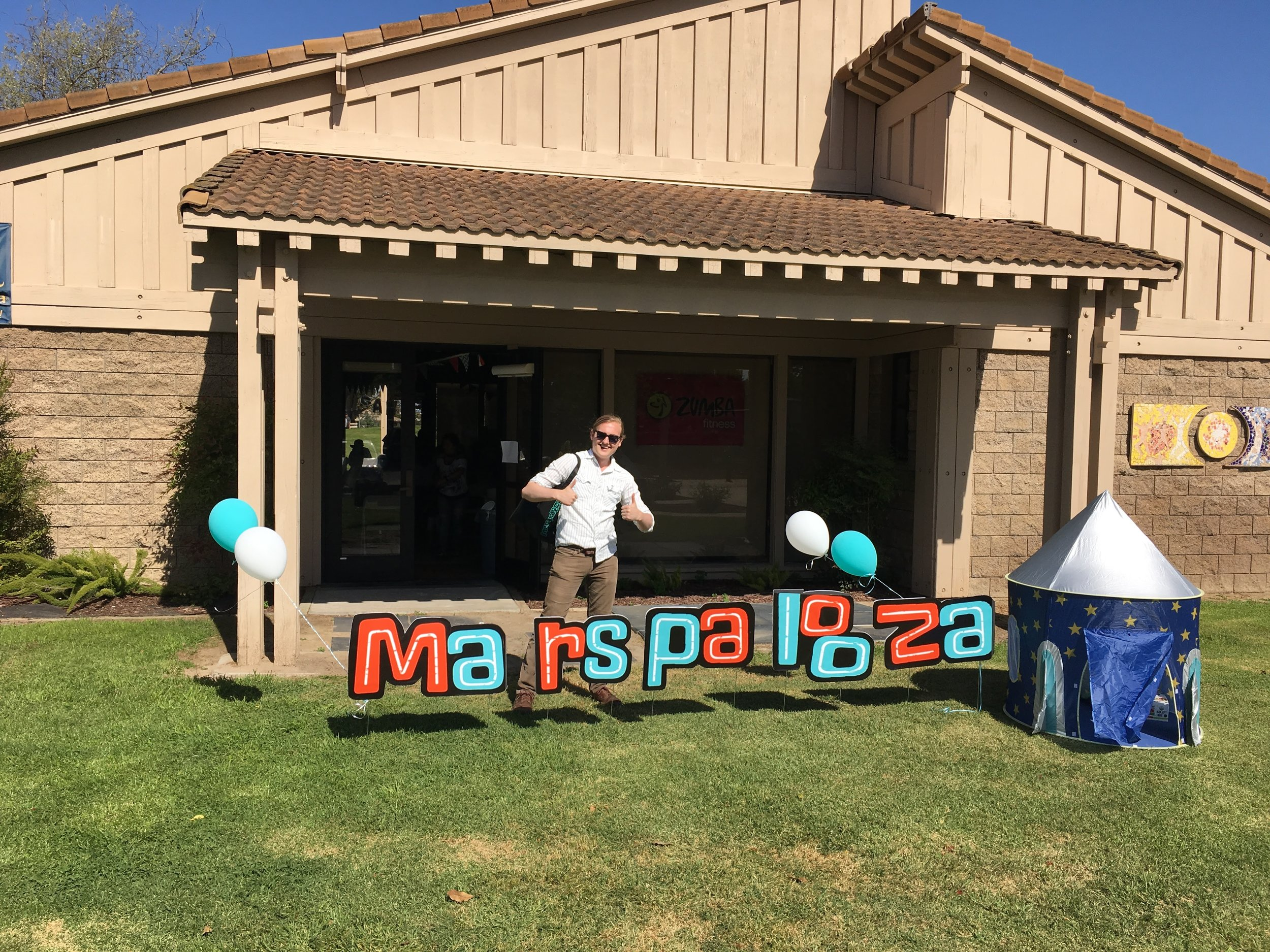 we were the headlining act (...the only act) at an awesome music festival themed kids party!