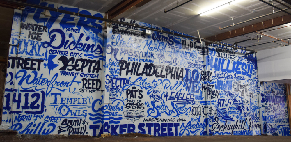 Word Collage - Graffiti Lofts, South Philly