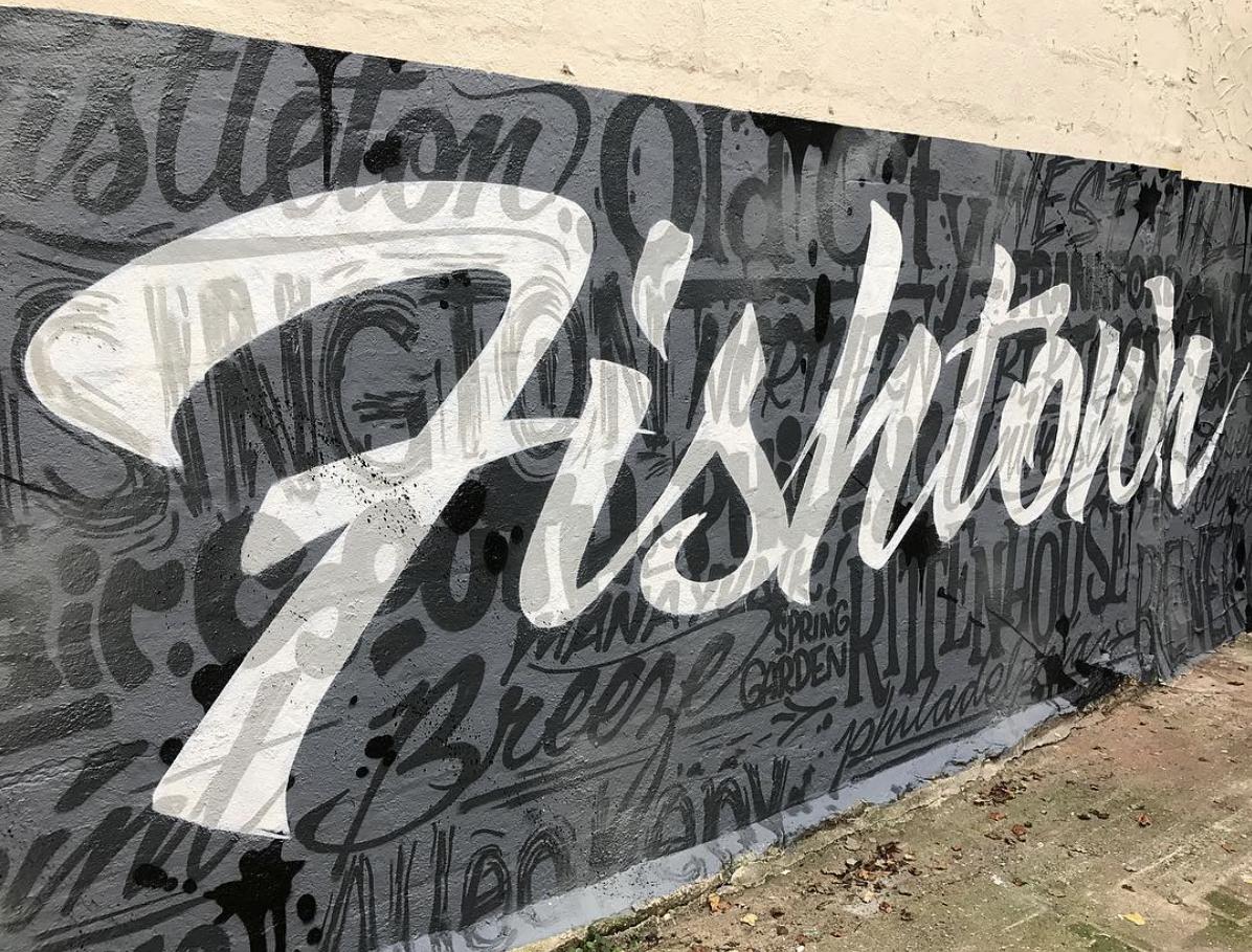 Fishtown - Neighborhood Word Collage