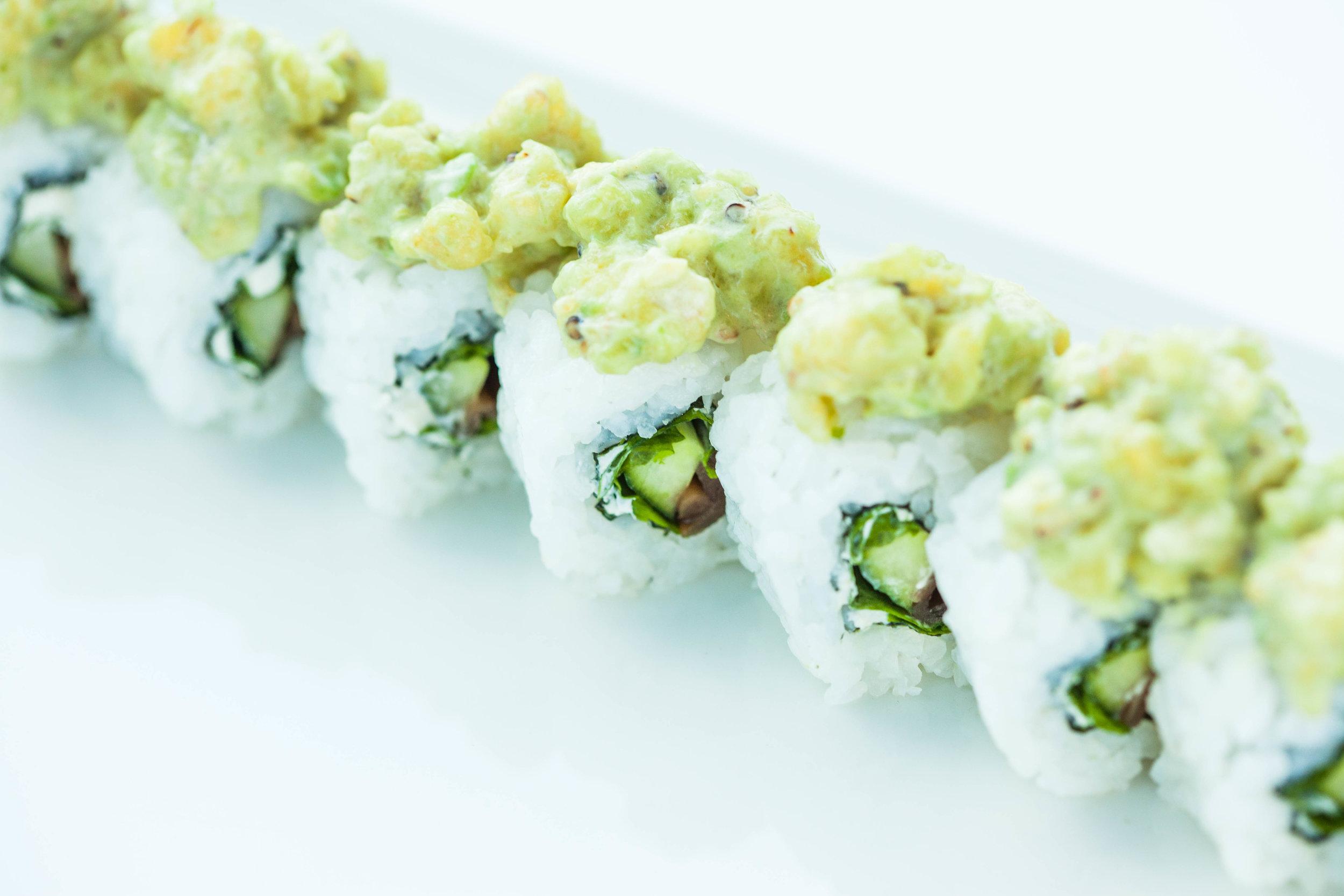 Tofu-avocado tempura maki