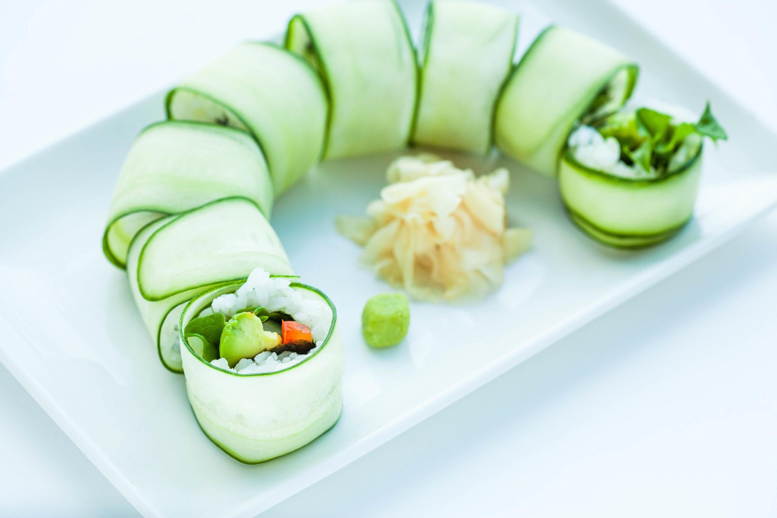 Reverse cucumber maki