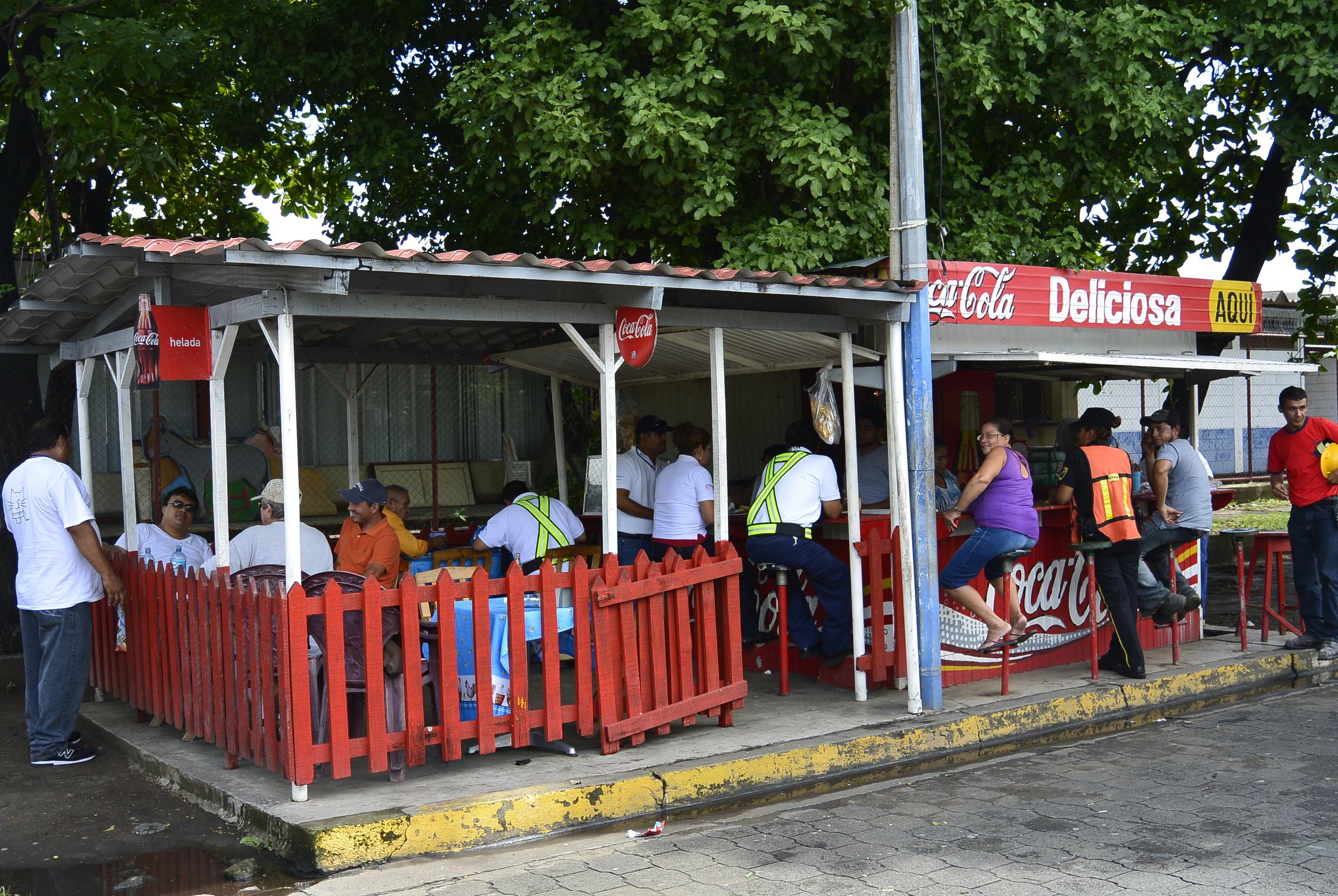 Street Restaurant in Corinto Nicaragua