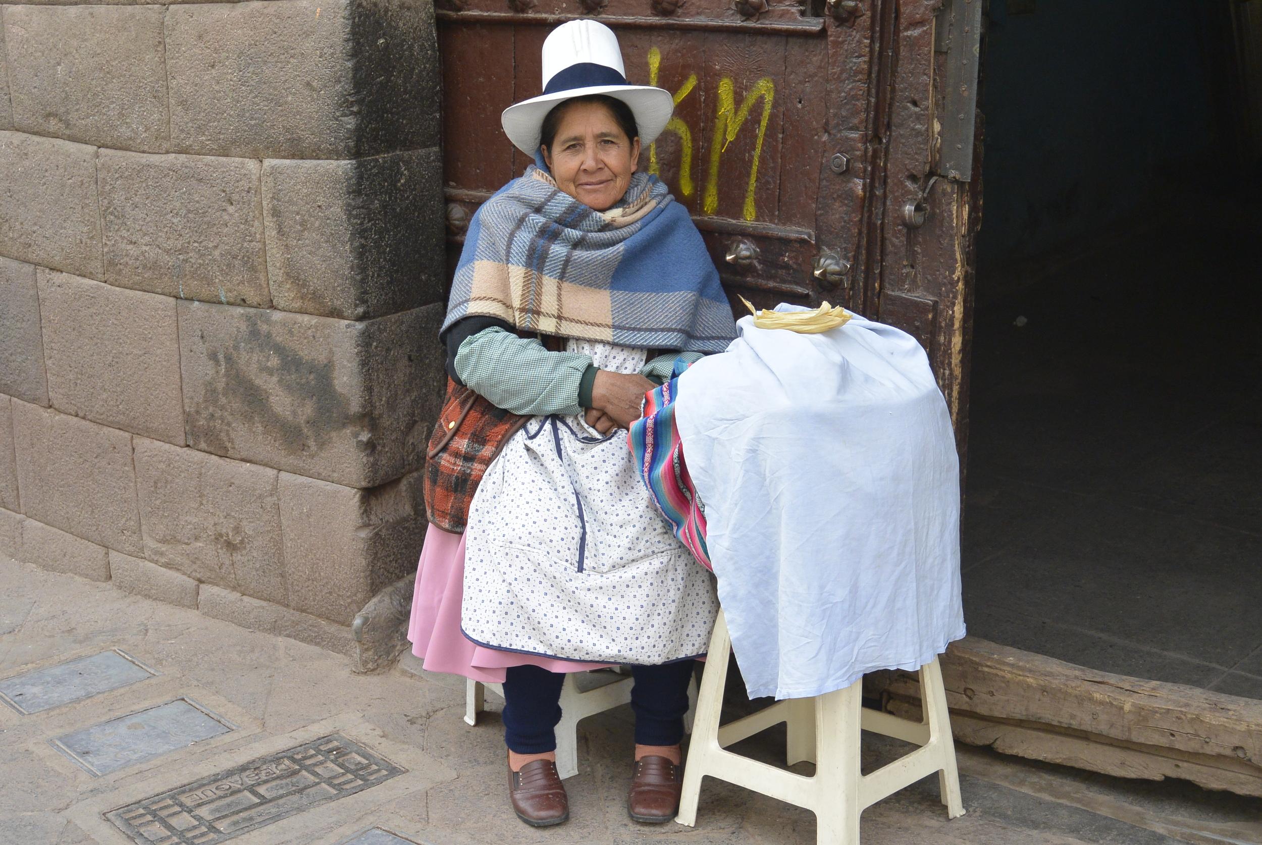 Peruvian Woman in Cusco Peru